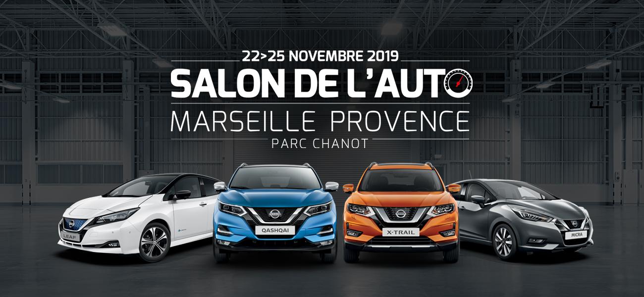 Du 22 au 25 novembre : Nissan Marseille au Salon de l'Auto de Marseille Provence
