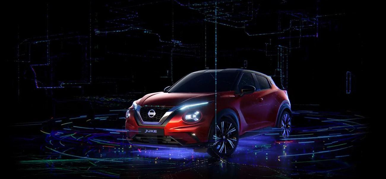 Des hologrammes du nouveau Nissan JUKE � taille r�elle investissent les plus grandes gares de France