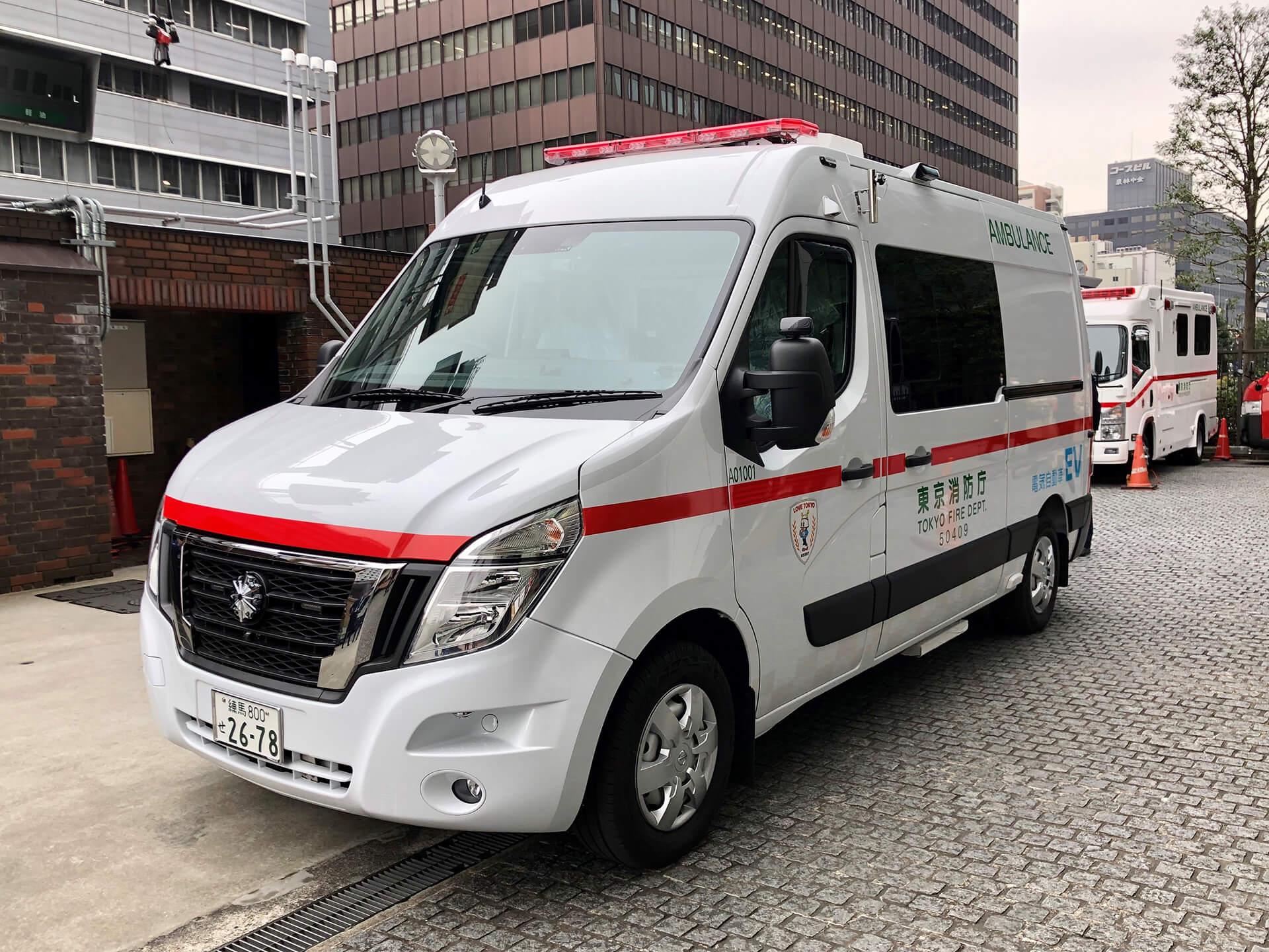 NISSAN JAPON TRANSFORME UN NISSAN NV400 EN AMBULANCE 100% ELECTRIQUE